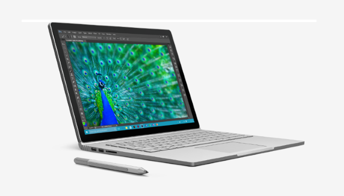 Bild von einem Microsoft Surfacebook
