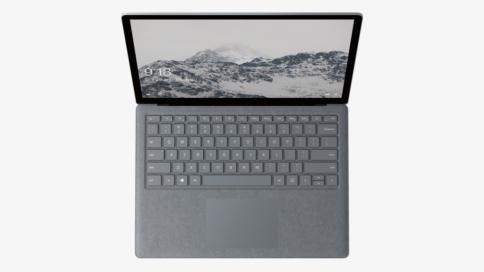 Surface Laptop von oben