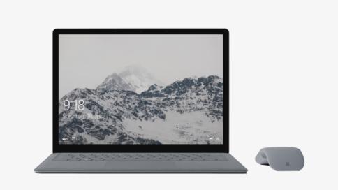 Surface Laptop von vorne mit Maus